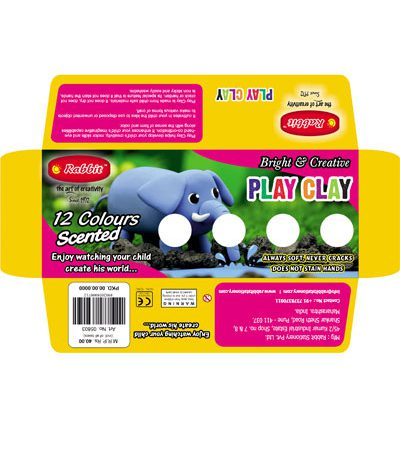 PLAY CLAY 12 COLOR STRIPES 100GM