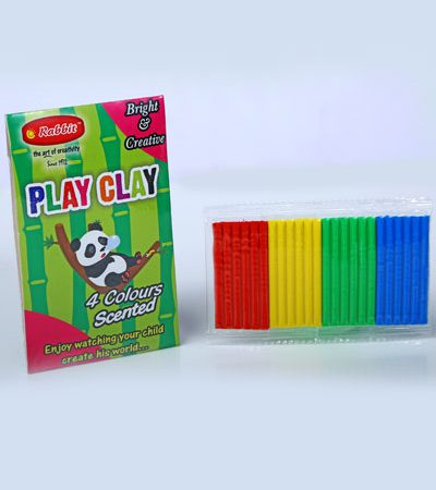 PLAY CLAY 4 COLOR STRIPES 30GMS