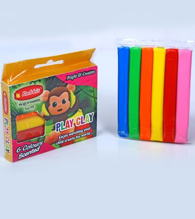 PLAY CLAY 6 COLOR ROD 100GM