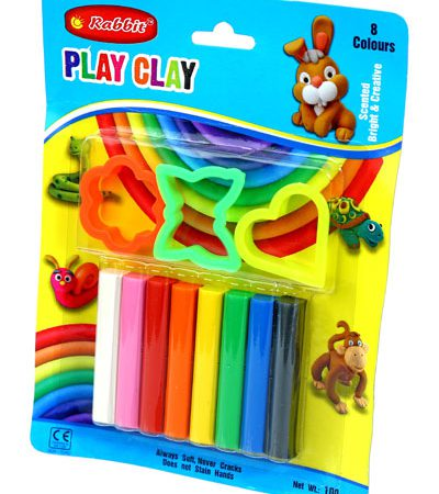 PLAY CLAY 8 COLOR BLISTER CARD