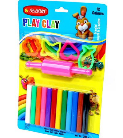 PLAY CLAY 12 COLOR BLISTER CARD
