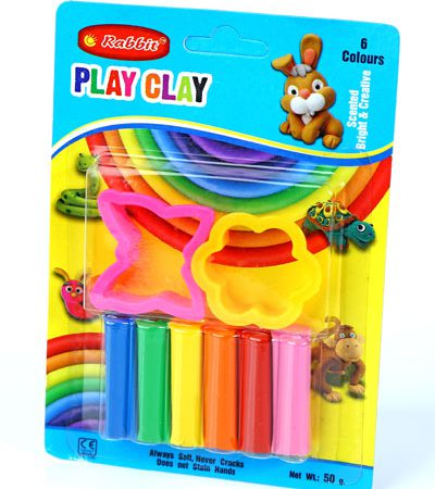PLAY CLAY 6 COLOR BLISTER CARD