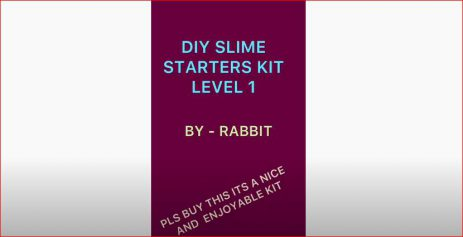 Rabbit slime making video made by Preesha Agarwal from Hyderabad